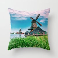 amazing windmills  Throw Pillow