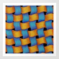 Woven - Pattern Painting Art Print