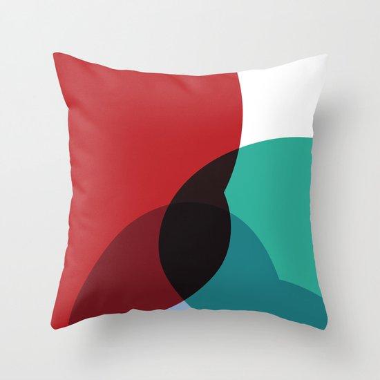 Colorful Blob Throw Pillow
