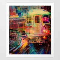 Le train  Art Print