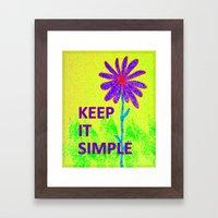 Wildflower Keep It Simple Framed Art Print