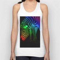 Rainbow Zebra Unisex Tank Top