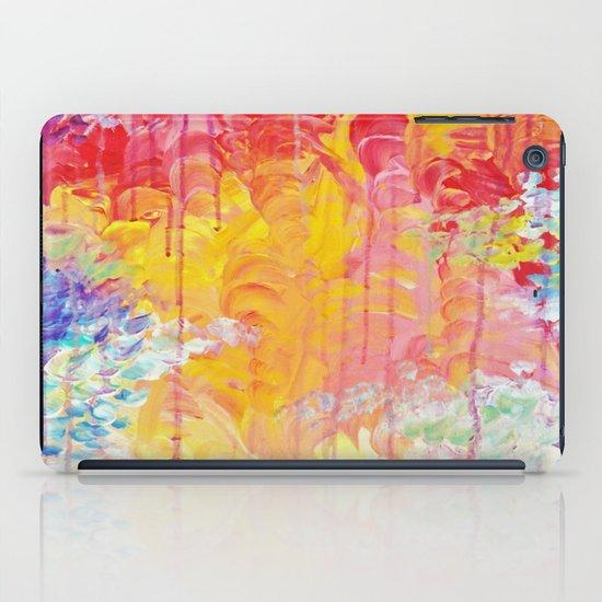 SUN SHOWERS - Beautiful Pastel Coloful Rain Clouds Bright Sky Abstract Acrylic Painting iPad Case
