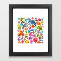 Sea Of Life Framed Art Print