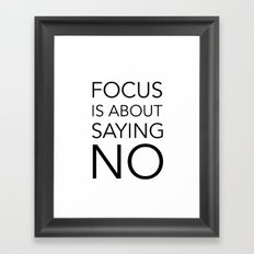 Focus is about.... Framed Art Print