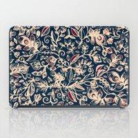 Navy Garden - Floral Doo… iPad Case