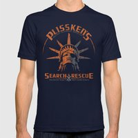 Snake Plissken's Searc… Mens Fitted Tee Navy SMALL