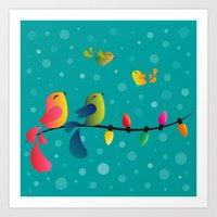 Fly High, My Babies - Me… Art Print