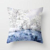 Frozen Beauty Throw Pillow