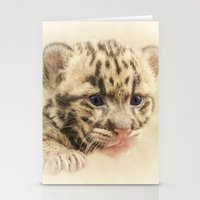 CUTE CLOUDED LEOPARD CUB Stationery Cards