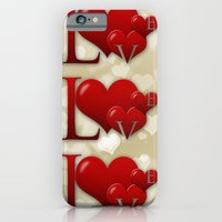 iPhone & iPod Case featuring Love! Love! Love!  by Digi Treats 2