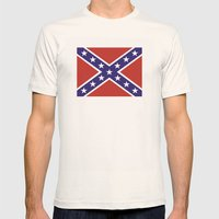 united states of america civil war flag Mens Fitted Tee Natural SMALL
