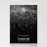 STARGAZING IS LIKE TIME … Stationery Cards