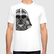Dark Vador White Mens Fitted Tee SMALL