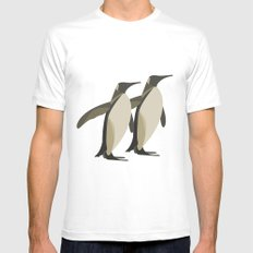 Penguins mate for life Mens Fitted Tee White SMALL