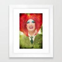 Mini-policial burlesco-ortográfico e de rutura Framed Art Print