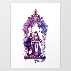 Portia - The Merchant of Venice - Shakespeare Illustration Art Art Print