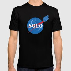 SOLO SMALL Black Mens Fitted Tee