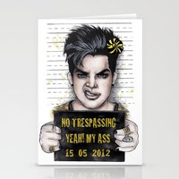Trespassing Zone Stationery Cards