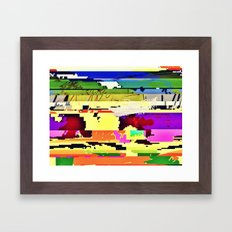 Paint On The Monitor #2 Framed Art Print