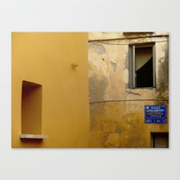 Colors Of Crete - Yellow Canvas Print