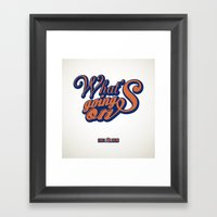 HipHop Anthem : Eric B &… Framed Art Print
