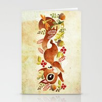 Playful Squirrel Stationery Cards