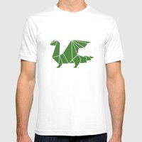 Draconis Mens Fitted Tee White SMALL