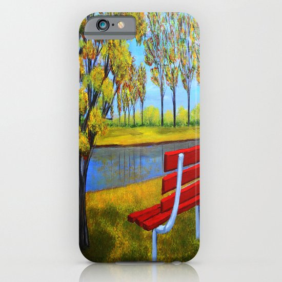 The red bench  iPhone & iPod Case
