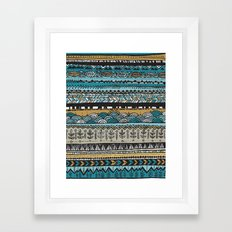 Duck egg and Gold Framed Art Print