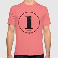 One 'Stamp' Mens Fitted Tee Pomegranate SMALL