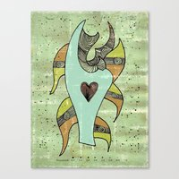 The Love Ship. Canvas Print