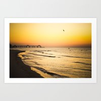 Beach Pier II Art Print