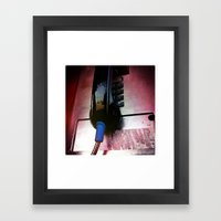 Line Out Framed Art Print