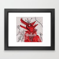 Woman Wolf Framed Art Print