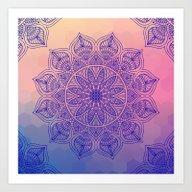 Art Print featuring Mild Mandala by Mantra Mandala