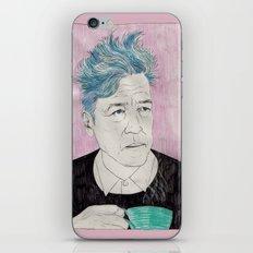 David Lynch drinking coffee. iPhone & iPod Skin