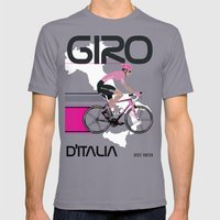 GIRO D'ITALIA Mens Fitted Tee Slate SMALL
