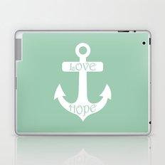 Love Hope Anchor Hemlock Green Laptop & iPad Skin