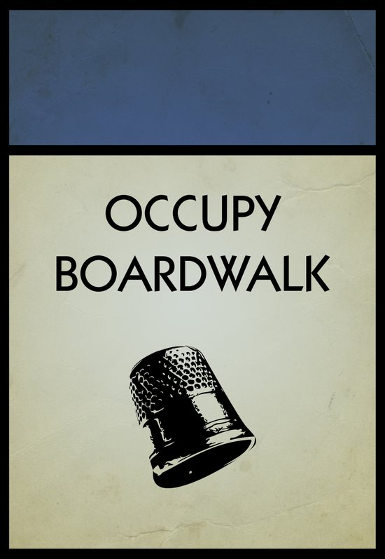occupy boardwalk. Art Print