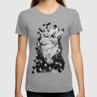 Cat Womens Fitted Tee Tri-Grey SMALL