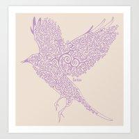 Flight In Swirls Art Print