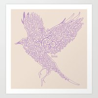 Flight In Swirls Art Print