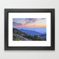 Alayos mountains at sunset Framed Art Print