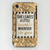 iPhone 3Gs & iPhone 3G Cases featuring She Leaves a Little Sparkle Wherever She Goes by Tangerine-Tane