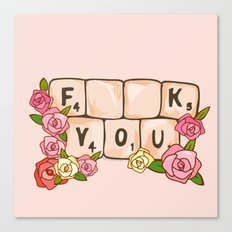 F **U  YOU Canvas Print