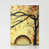 Abstract Golden Landscap… Stationery Cards