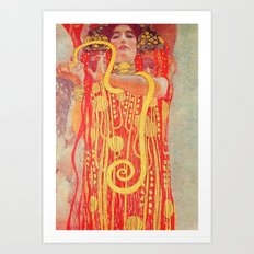 Gustav Klimt - Greek Goddess of Medicine Hygeia Art Print