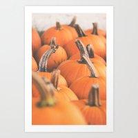 Pumpkin Season. Art Print