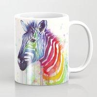 Zebra Watercolor Rainbow Painting | Ode to Fruit Stripes Mug